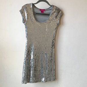 Silver Sequined Demanding Say What Cocktail Dress